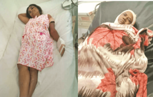 Injured wife, Savitree Sankumarnjured mother-in-law, Rookmin