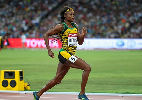 Jamaica's Olympic double sprint champion Elaine Thompson