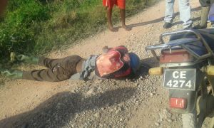 The body and motorcycle found on a dam in the backlands of East Canje
