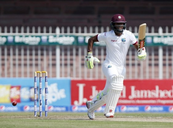 Kraigg Brathwaite was a study in concentration during his 12th Test fifty(Photo: Getty Images)