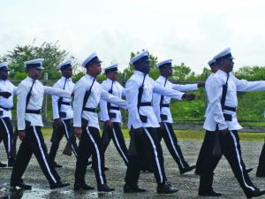 Ranks from G Division during the parade