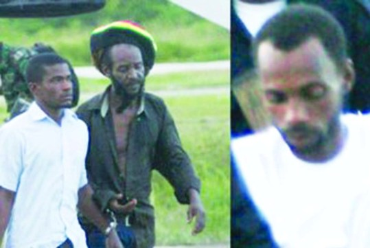 Flashback: Three of the suspects arriving in Georgetown after they were apprehended