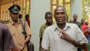 Eric Aniva outside court in Nsanje in August (AFP photo)