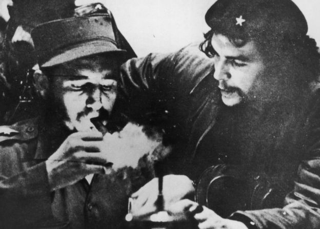 Castro in the mid-1950s with another leading revolutionary - Che Guevara