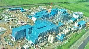 An overhead view of the Skeldon Sugar Factory