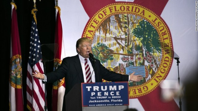 Trump hits the campaign trail in another key state, Florida, with a rally in Jacksonville on November 3