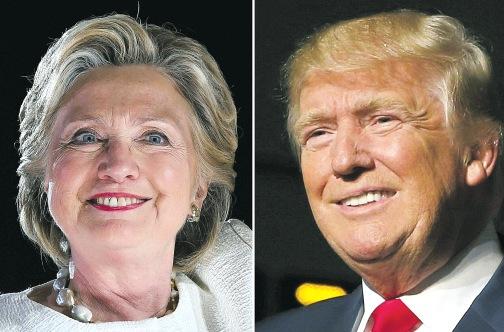 US Democratic presidential nominee Hillary Clinton and Republican Presidential nominee Donald Trump (Photo: AFP)