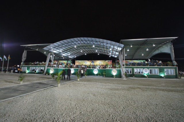 The VIP pavillion at the Durban Park