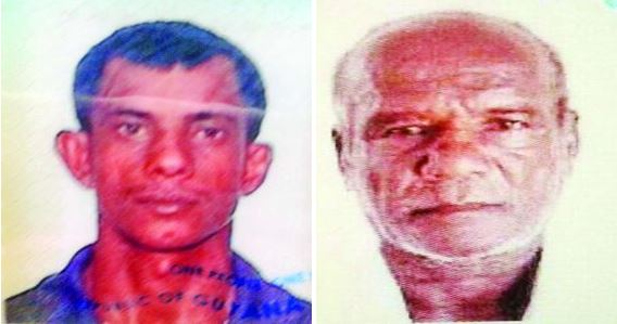 Dead: Bhognarine Isbarran (left) and his father Budhram Isbarran