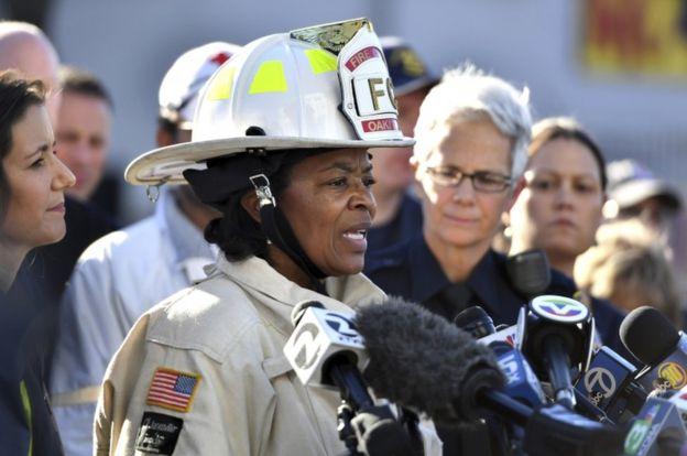 Oakland Fire Chief Teresa Deloach Reed said the warehouse was like a maze (AP)