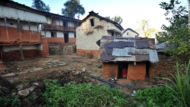 Women and girls across Nepal are banished to chhaupadi huts like this one during menstruation despite the practice being banned in 2005.