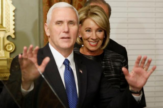 Are Pence And Devos One Two Knock Out >> New Trump Travel Order Expected In Coming Days Pence Says Inews