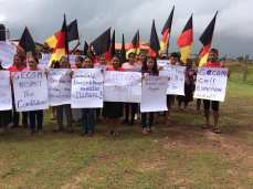 Some protesters at Lethem, Region 9