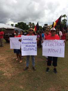 Some protesters at Lethem, Region 9
