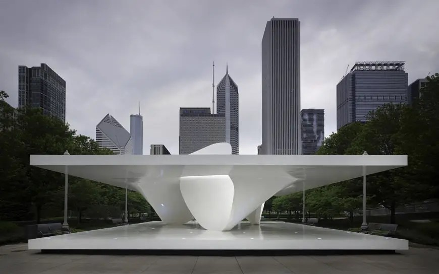 Chicago  The Burnham Pavilion by Zaha Hadid Architects