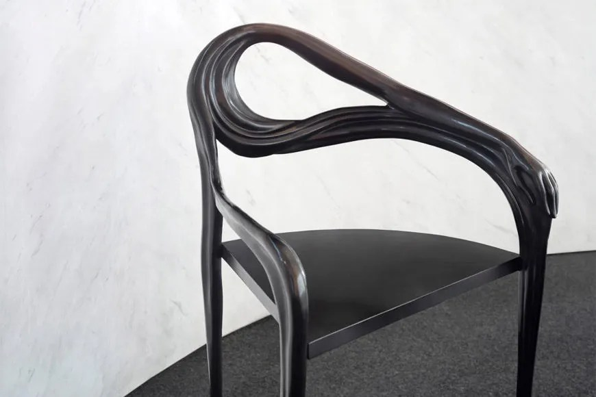 chair design bd desk ikea canada milan week from gaudi to tusquets blends art and artisanry 2018 combines with