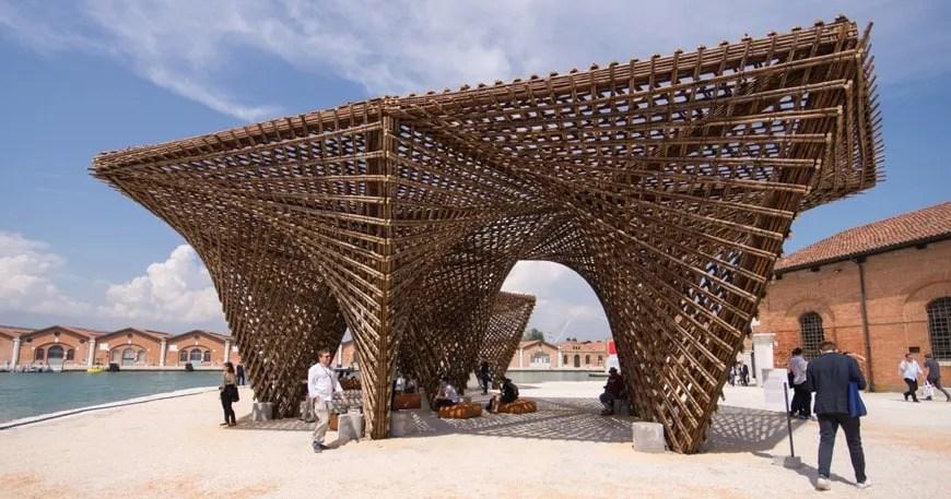 Vo Trong Nghia  Bamboo Stalactite Pavilion  2018 Venice