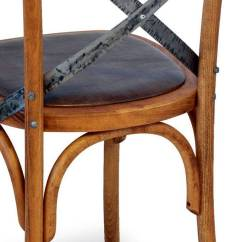 Wood Leather Chair Led Table And Chairs Vintage In Artificial Ciao Iron