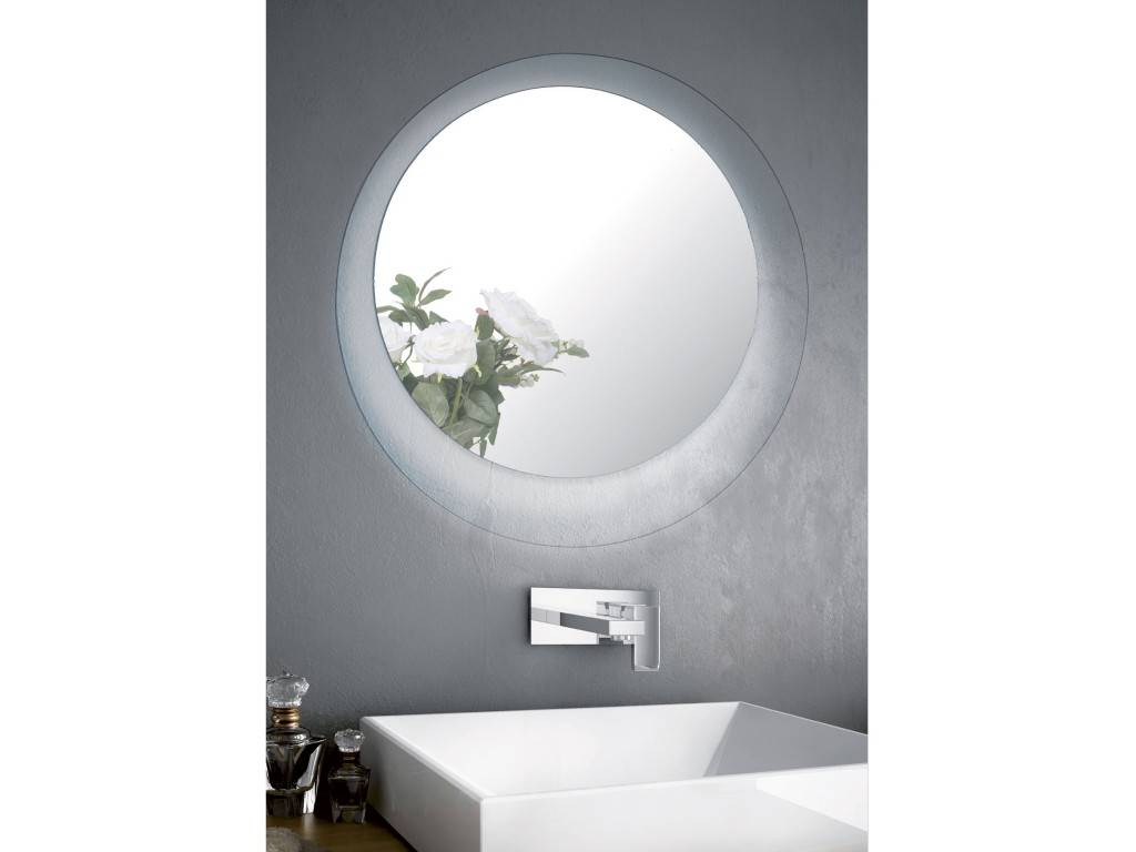 round mirror Led for bathroom CRYSTAL