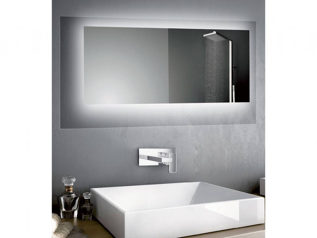 rectangular or square mirror Led for bathroom CRYSTAL