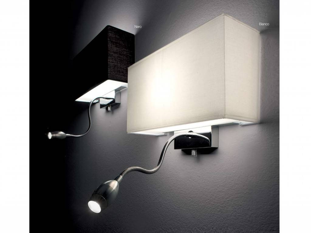 Hotel LED wall lamp with textile lampshade