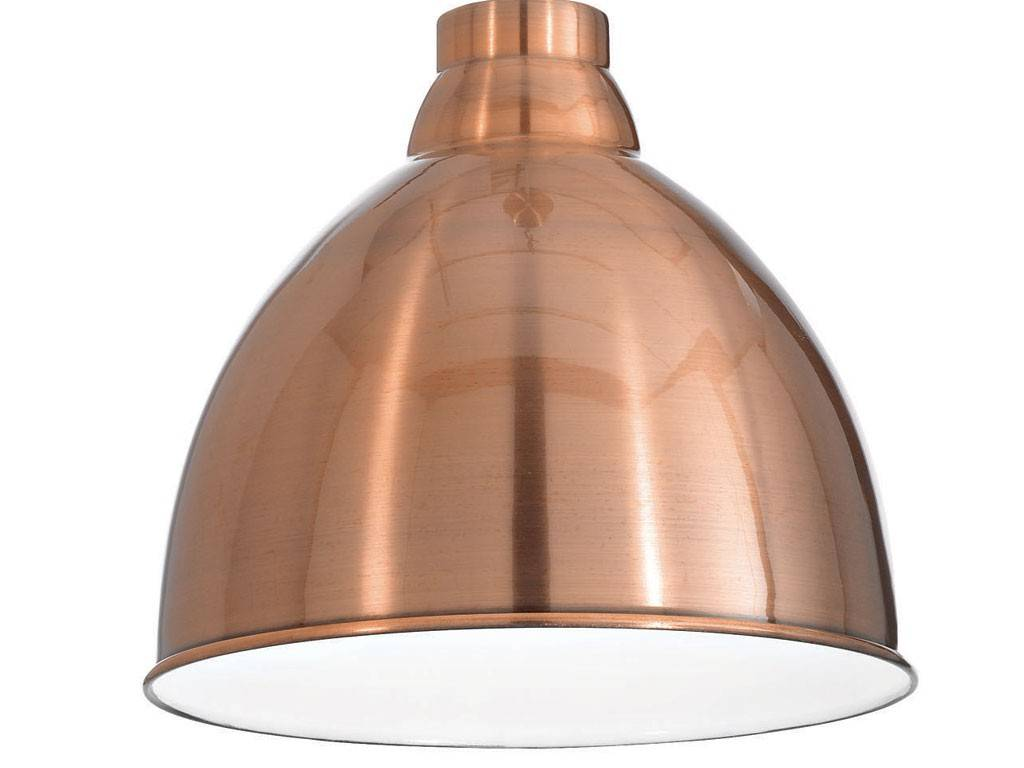 Navy Hanging Lamp With Metal Diffuser