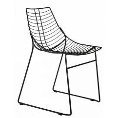 Steel Net Chair Outdoor With Umbrella Metal A Sled Frame