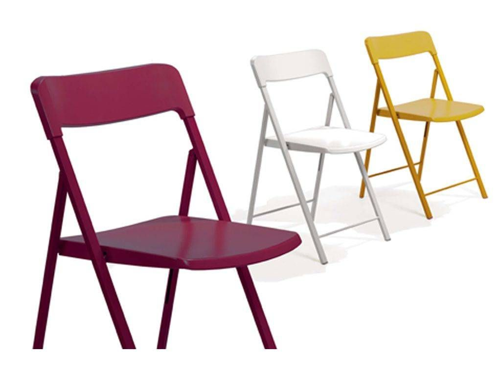 folding chair for living room toddler camp in steel and plastic zeta