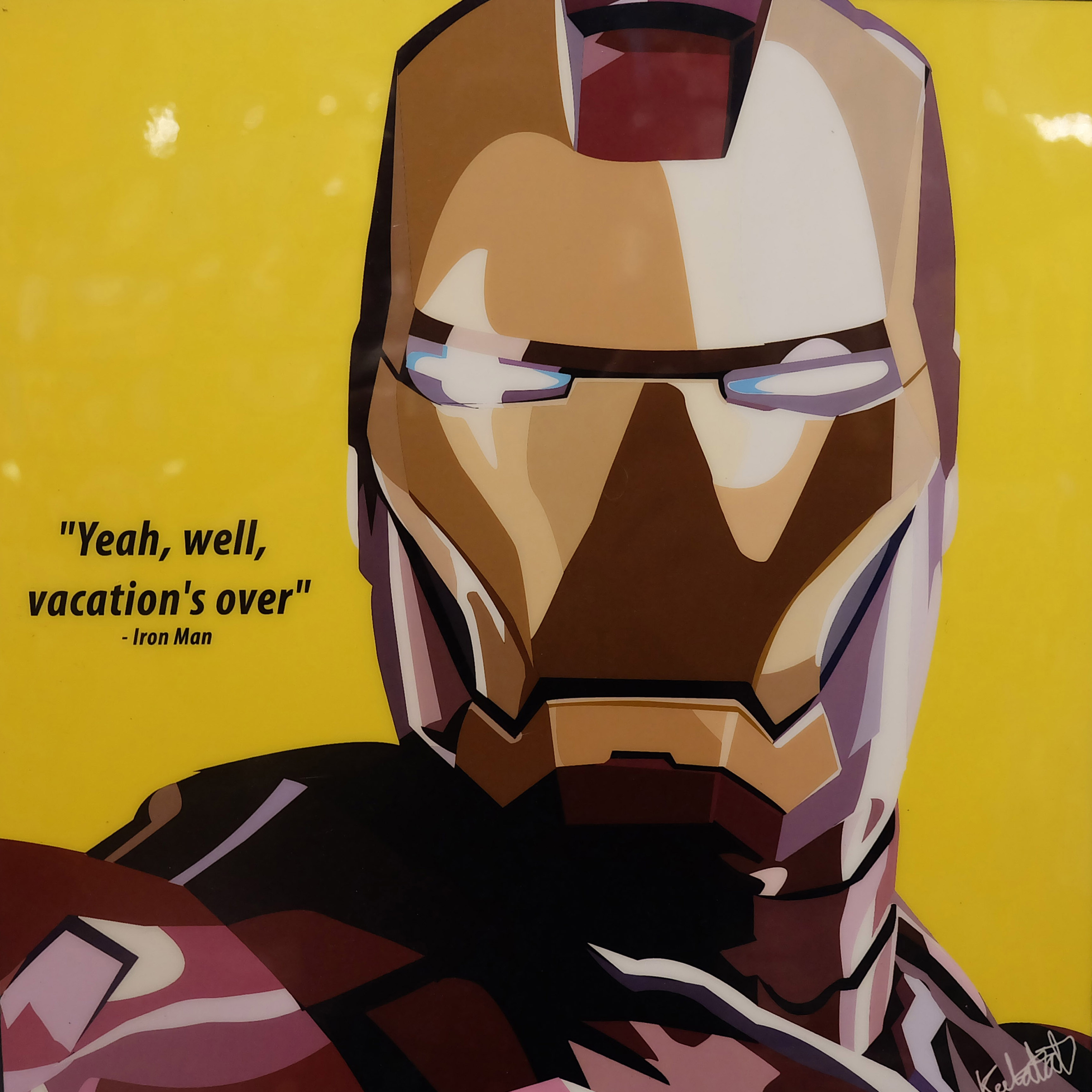 Iron Man Pop Art Poster Vacation S Over Infamous Inspiration