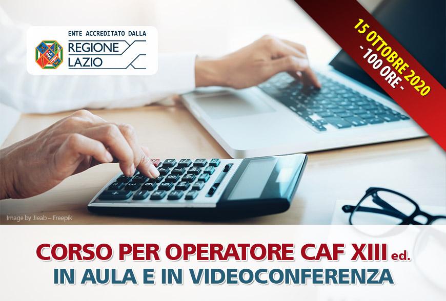 Corso Operatore CAF 2020