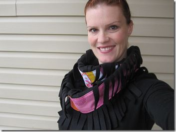 How to Make a Frilly Fleece Cowl