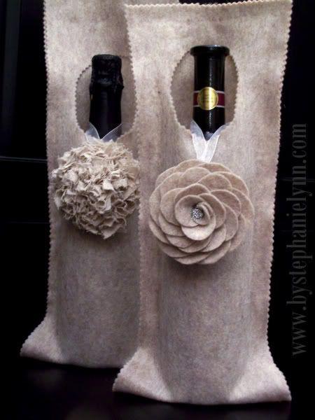 No Sew Felt Wine Wrap