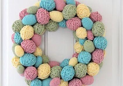 Yarn Egg Wreath