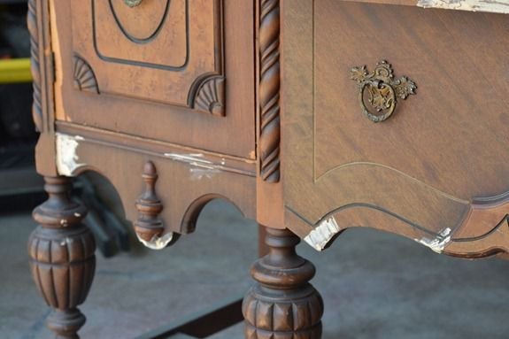 antique sideboard makeover (16)