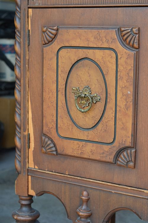 antique sideboard makeover (5)