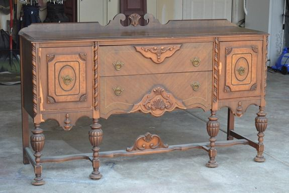 antique sideboard makeover (6)