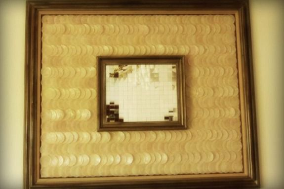 mosaic shell mirror art (3)