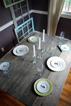 monogrammed place settings