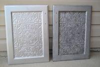 Faux Tin Tile Cabinets - Infarrantly Creative