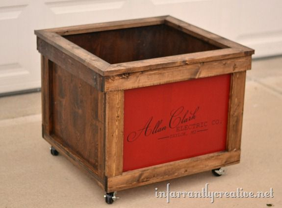 Wooden Shipping Crate Toy Box  Infarrantly Creative