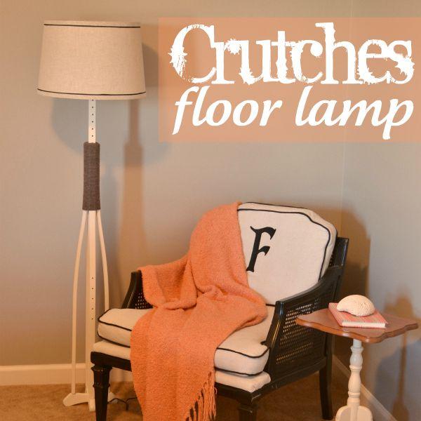 crutches floor lamp