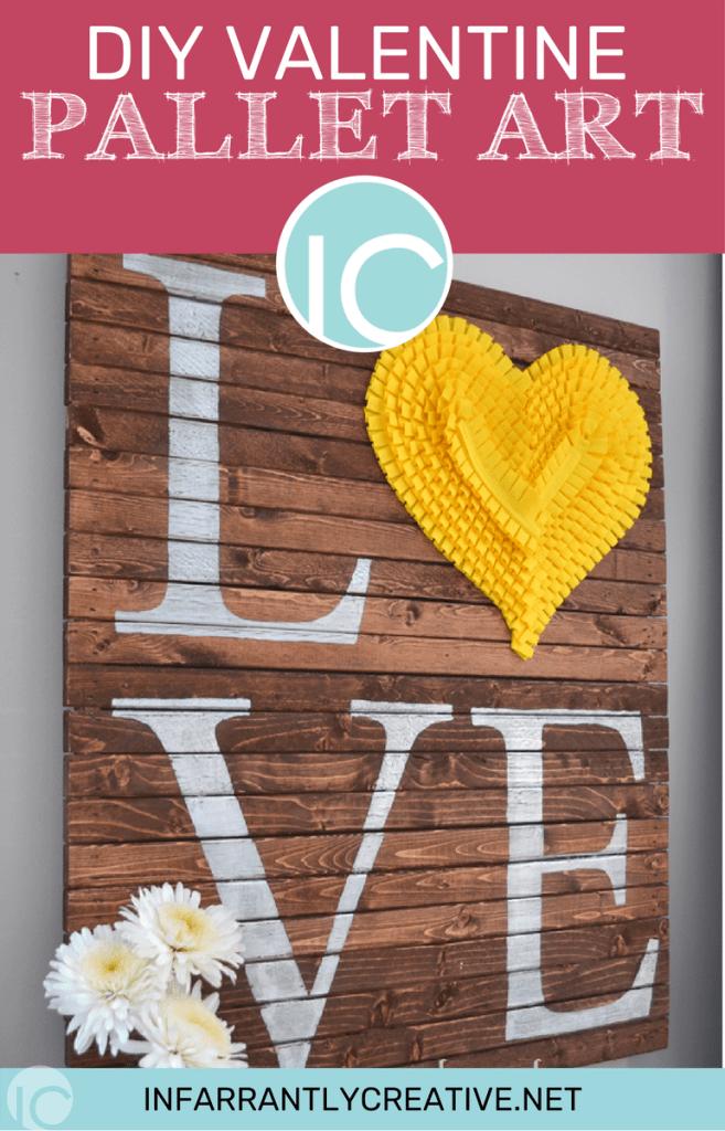 DIY Pallet Valentine Art