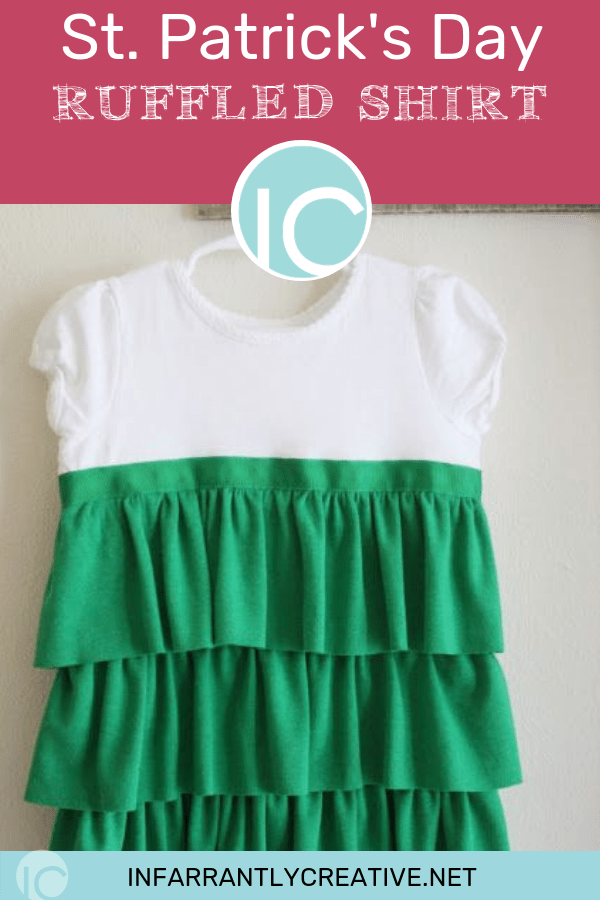 St. patricks day ruffled shirt