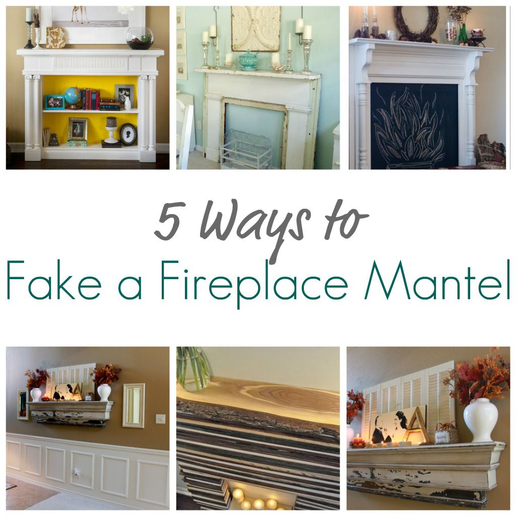 decorate living room with no fireplace large canvas art for india 5 ways to fake a mantel - infarrantly creative