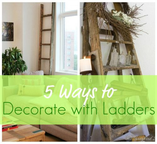 5 Ways to Decorate with Ladders