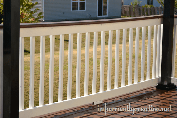 paint and stained deck