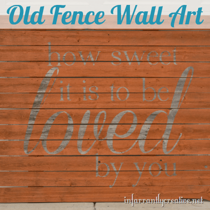 old fence wall art