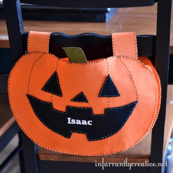 pumpkin chair backer