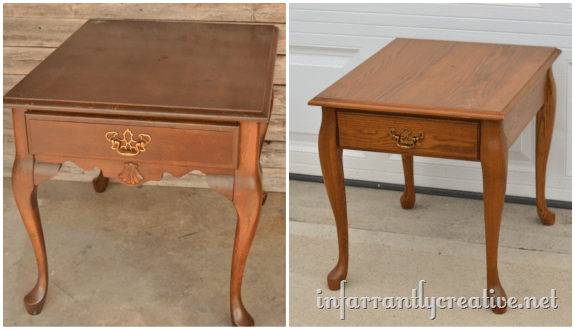 Nice Queen Anne End Table Makeover