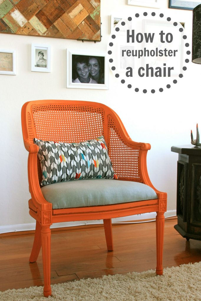 How to Reupholster a Chair  Infarrantly Creative